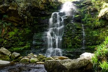 Front View Of Middle Black Clough Waterfall