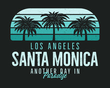 Santa Monica Beach Graphic For...