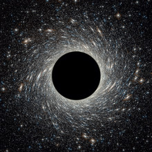 Black Hole In Universe. Wormho...