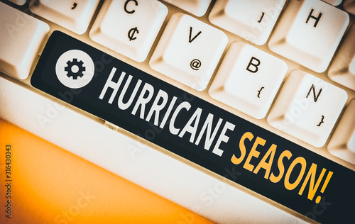 Word writing text Hurricane Season Wallpaper Mural