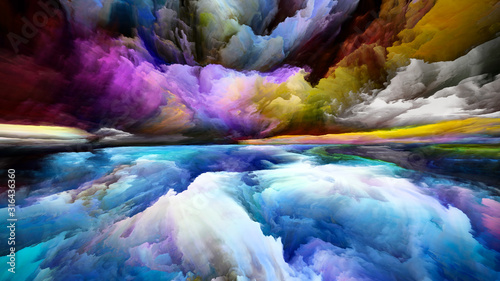 Obraz Colorful Land and Sky - fototapety do salonu