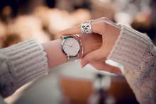 Stylish Fashion Watch On Woman...