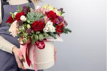 Floral Fresh Arrangement Of Br...