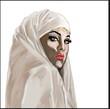 femme muslim peinture