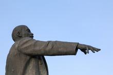 A Statue Of Lenin In Narva, Estonia