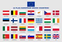 Set Of European Union Countries Flag