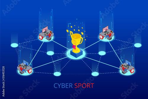Fotografie, Obraz Isometric Cybersports competition