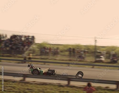 Valokuvatapetti vintage slingshot dragster