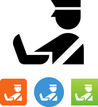 Customs Agent Inspection Luggage Icon
