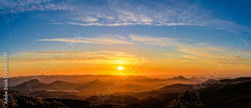 Fototapeta Panorama of Sunset in the Mountains obraz