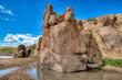 Felslandschaft in der Wüste Gobi, Mongolei
