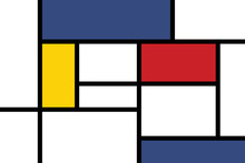 Colorful Rectangles; Mondrian ...