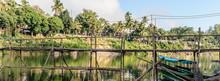 The Bamboo Bridge In Luang Pra...