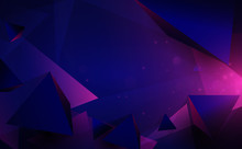 Abstract 3d Chaotic Low Poly S...