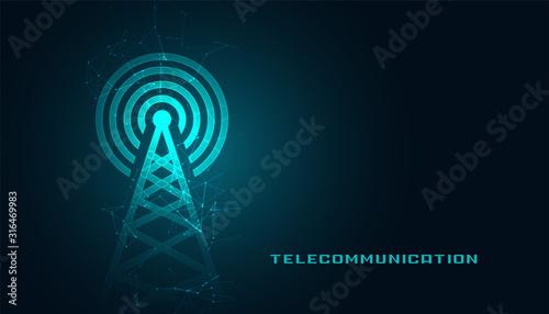 Fototapeta mobile telecommunication digital tower background design obraz