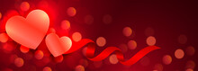 Beautiful Hearts Glowing Red B...