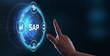 canvas print picture - Business process automation software. SAP