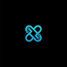 Letter X Technology Logo Desig...