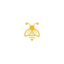 Leaf Logo Bee Modern Design
