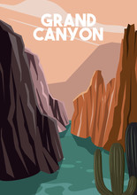 Grand Canyon Arizona Vector Il...