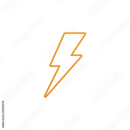 Fototapeta Lightning bolt flash thunderbolt icons vector obraz na płótnie