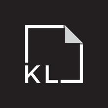 Monogram Initial KL Logo With ...