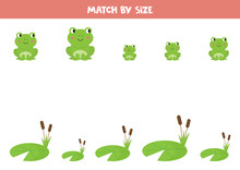 Match Cute Cartoon Frogs By Si...