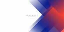 Modern Red Blue Abstract Backg...