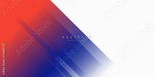 Fototapety, obrazy: Modern red blue abstract background with stylish line square suit for presentation design
