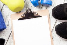 Clip Board And Exercise Equipment