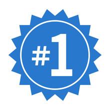 Number 1 Or #1 Badge Label Fla...