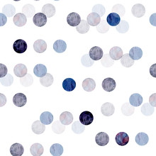 Seamless Watercolor Hand Drawn Pattern On White Isolated Background Pastel Neutral Grey Violet Pink Polka Dot Organic Soft Colors Abstract Light And Dark Round Circles Trendy Modern Minimalist Style