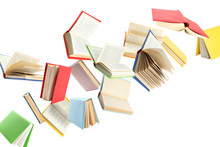 Colorful Hardcover Books Flyin...