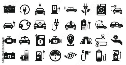Leinwand Poster Hybrid icons set