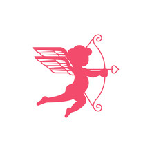 Cupid Logo Icon Vector Templat...