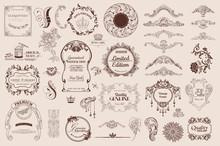 Set Of Calligraphic Elements F...