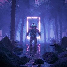 Psychedelic Jungle Astronaut /...