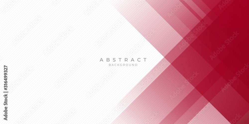 Fototapeta Abstract modern background gradient color. Red maroon and white gradient with stylish line and square decoration suit for presentation design.