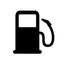 Gas Station Icon Isolated On White Background. Vehicle Refueling Station Sign, Gasoline And Diesel. Gasoline Pump Nozzle Vector Illustration