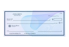 Blank Bank Cheque With Abstrac...