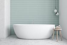 Blue And White Bathroom Interi...