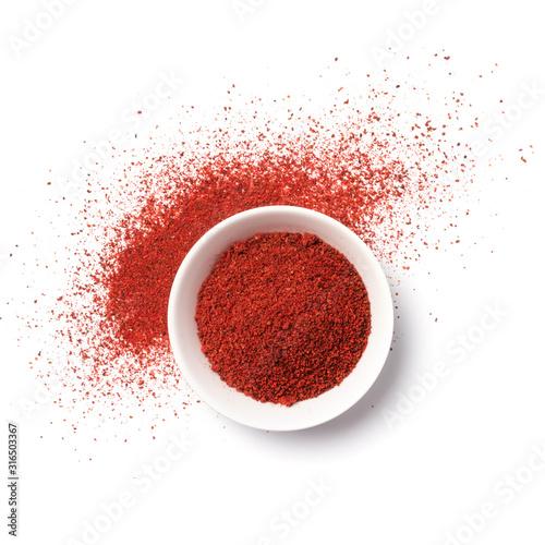 Fototapeta Bright red hot chilli pepper spice for tasty cooking obraz