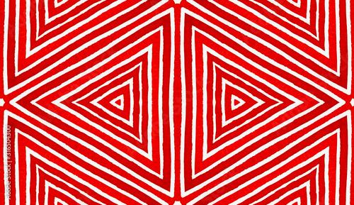 Wine red Geometric Watercolor. Amusing Seamless Pa Wallpaper Mural