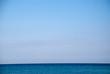 canvas print picture - Himmel und Horizont über Meer