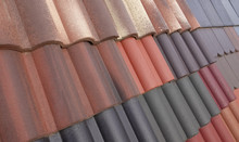 Clay Roof Tiles Different Covering Variety Of Color Shades