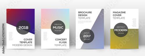 Obraz na plátně  Flyer layout. Modern extra template for Brochure,