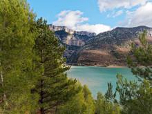 View Of The Entrance To The Verdon Gorge With Lac De Sainte-Croix