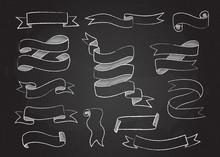 Chalk Style Sketchy Ribbon Set...