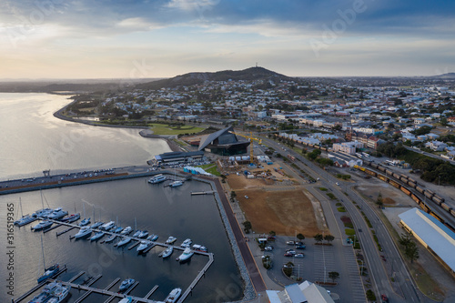 Fototapeta Aerial view of the West Australian town of Albany, an important shipping port an