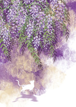 3d Mural Wallpaper Flowers Branches , Butterfly , Birds .Suitable For Use On A Wall Frame